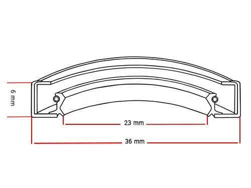 Oliekeerring 23x36x6mm BASL