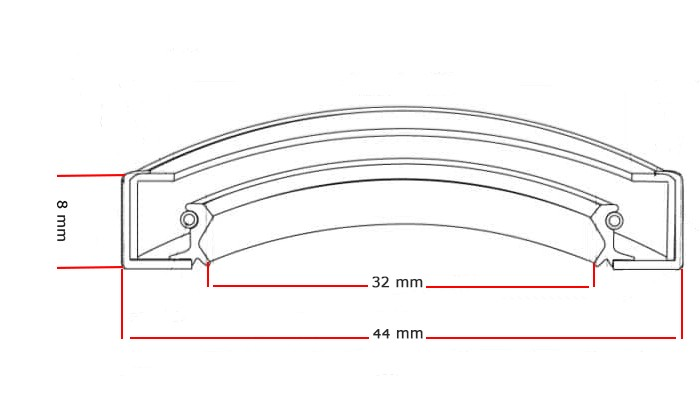 Oliekeerring 32x44x8mm BASL