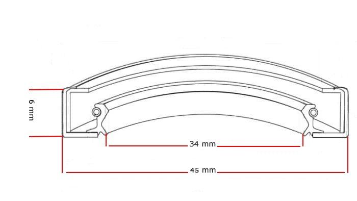 Oliekeerring 34x45x6mm BASL