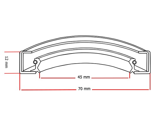 Oliekeerring 45x70x12mm BASL